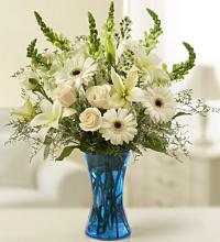 Tableside Sympathy Arrangement in White