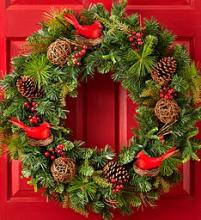 "Christmas Cardinal Wreath – 30""D"