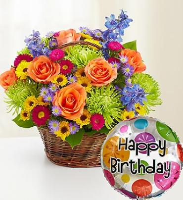 Beautiful Basket To Say Hy Birthday Brockport Ny Florist Same Day Flower Delivery For Any Occasion