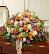 Multicolor Pastel Mixed Half Casket Cover