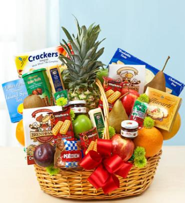 Super Deluxe Fruit and Gourmet Basket